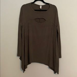 Mittoshop - olive colored long sleeve tunic